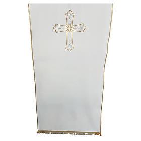 Coprileggio tessuto Vatican Poliestere ricamo croce fiore s1