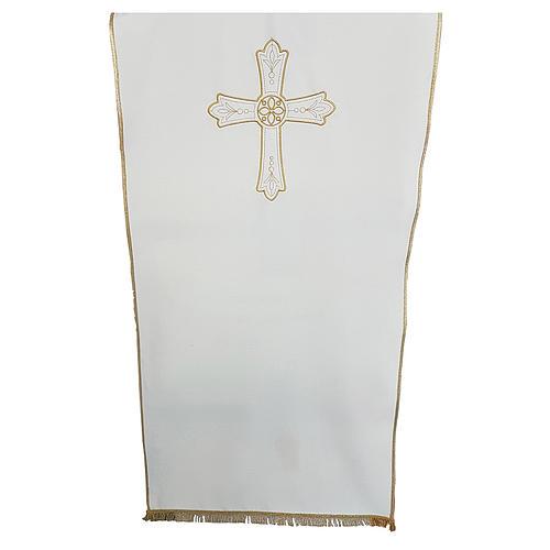 Coprileggio tessuto Vatican Poliestere ricamo croce fiore 1