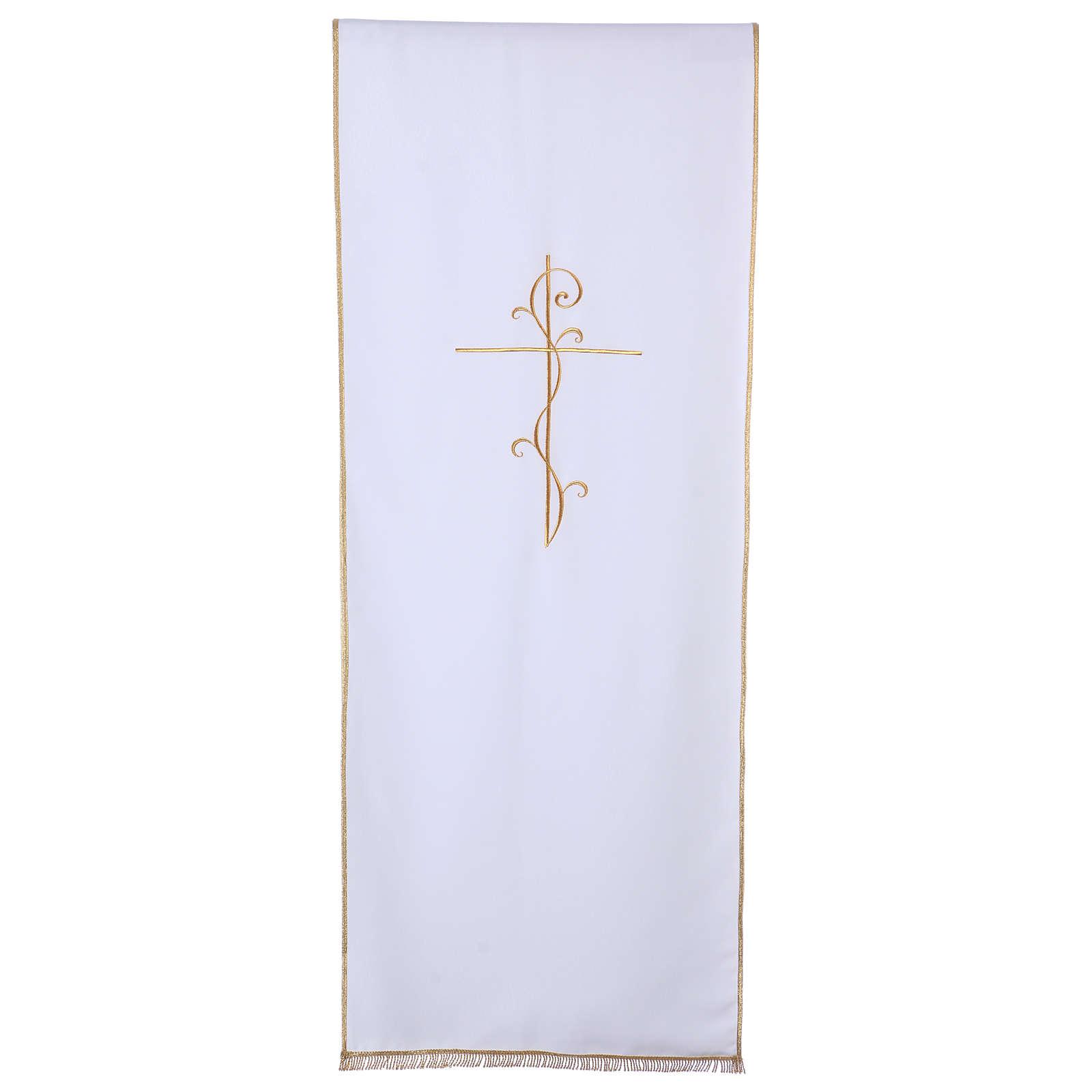 Cubre Atril tejido Vatican poliéster bordado cruz 4