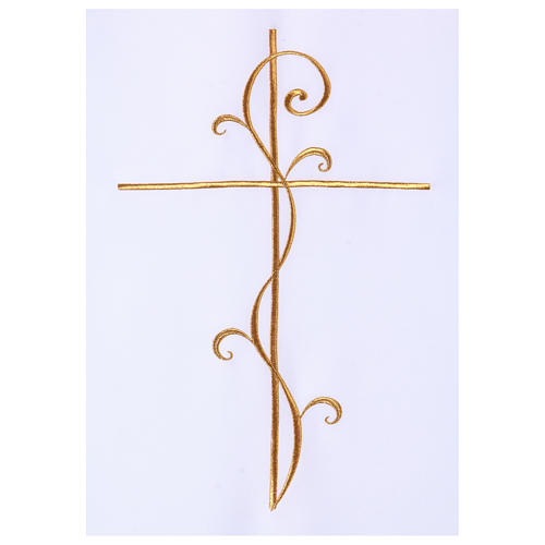 Cubre Atril tejido Vatican poliéster bordado cruz 2