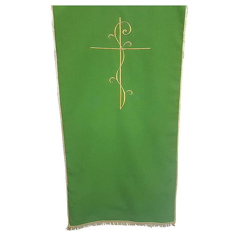 Coprileggio tessuto Vatican poliestere ricamo croce 4