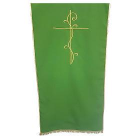 Coprileggio tessuto Vatican poliestere ricamo croce s1