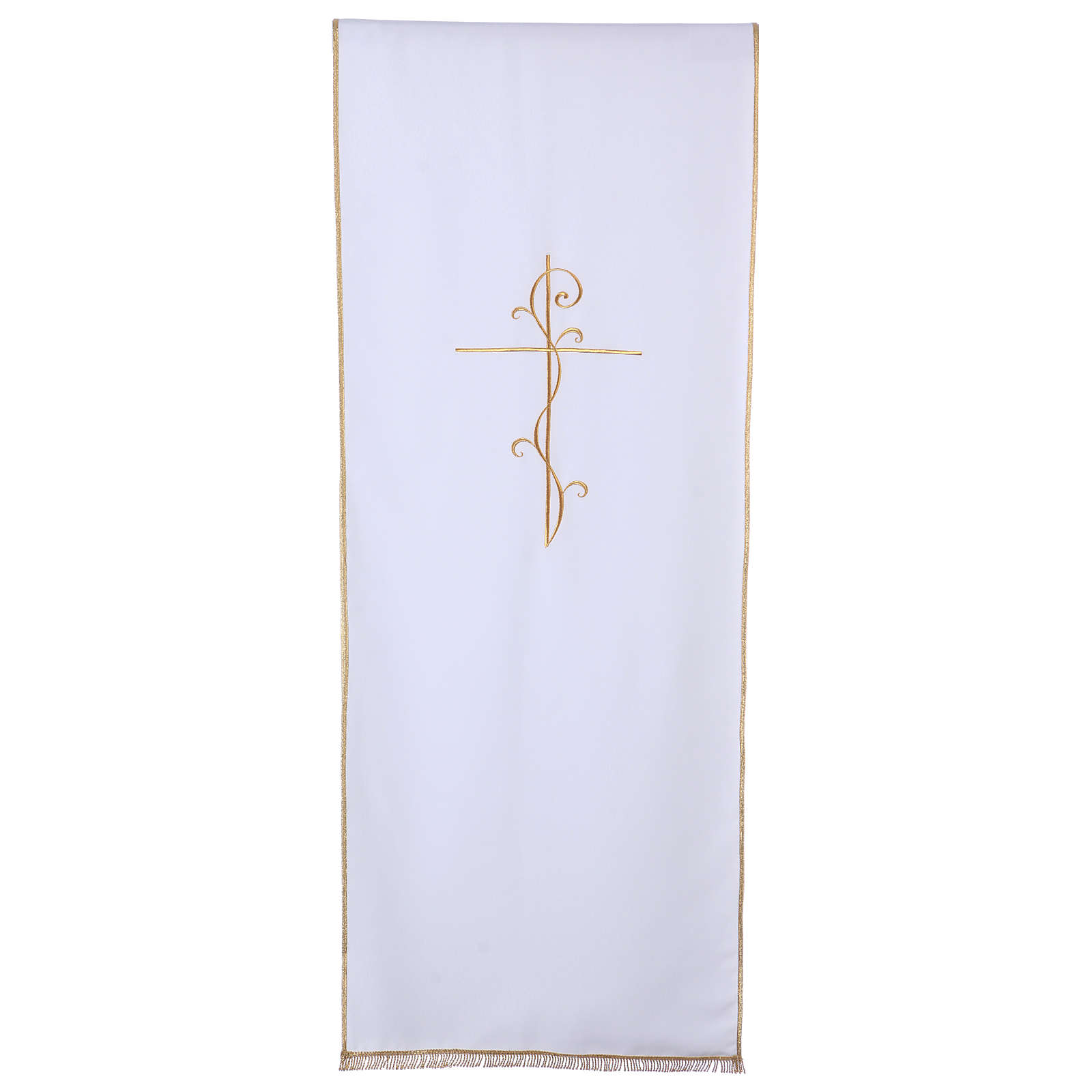 Véu para ambão tecido Vatican poliéster bordado cruz 4
