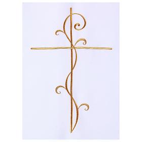 Véu para ambão tecido Vatican poliéster bordado cruz s2