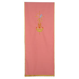 Rose Lectern Cover in polyester, cross, Alpha Omega, flames s1