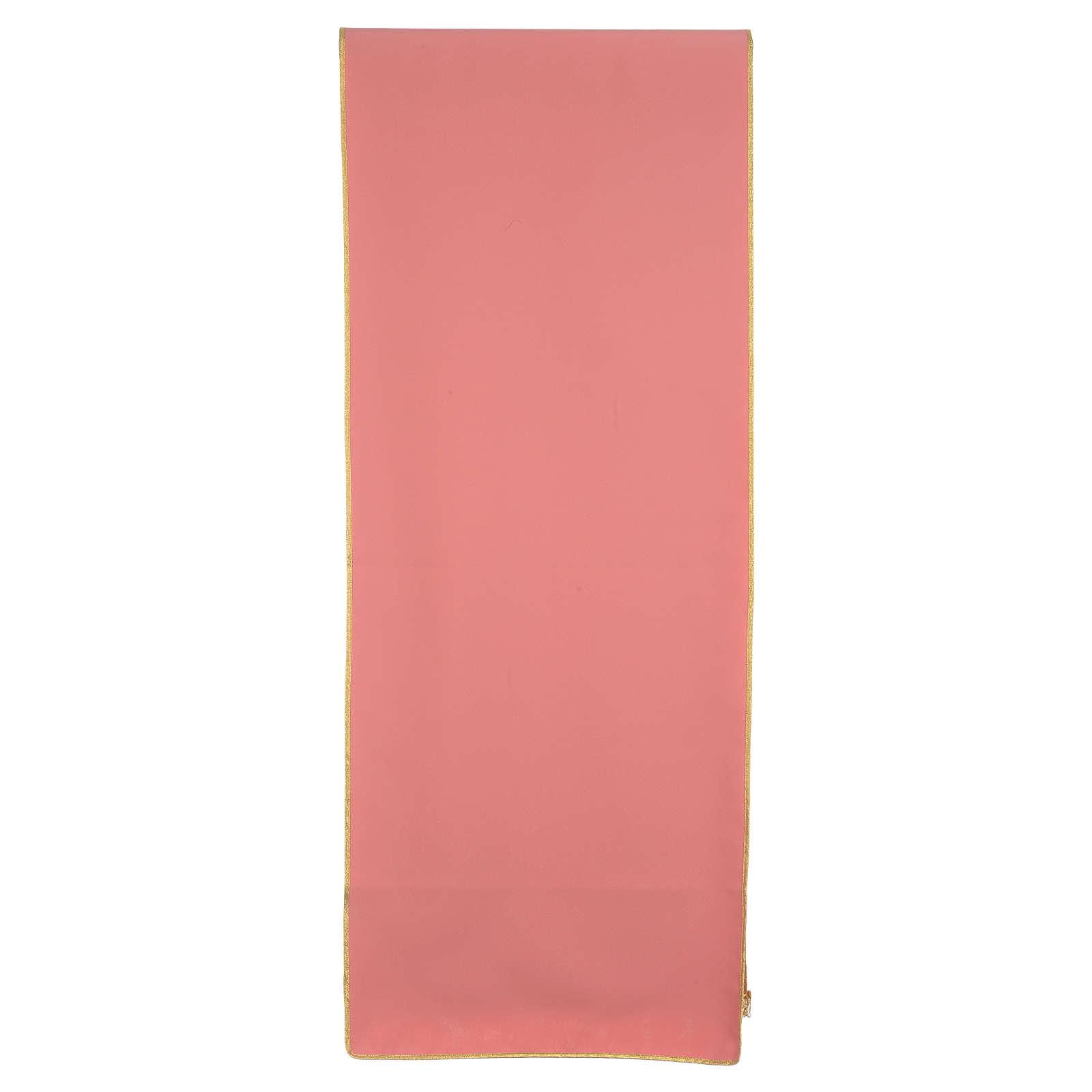 Paño de atril rosa 100% poliéster cruz alfa omega llama 4