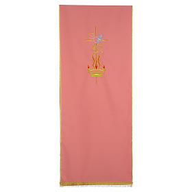 Paño de atril rosa 100% poliéster cruz alfa omega llama