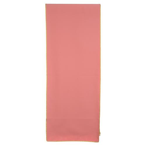 Coprileggio rosa 100% poliestere croce alfa omega fiamma 3