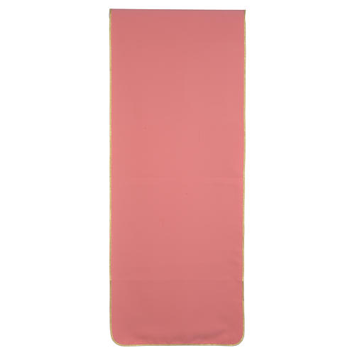 Paño de atril rosa 100% poliéster cruz espigas 3
