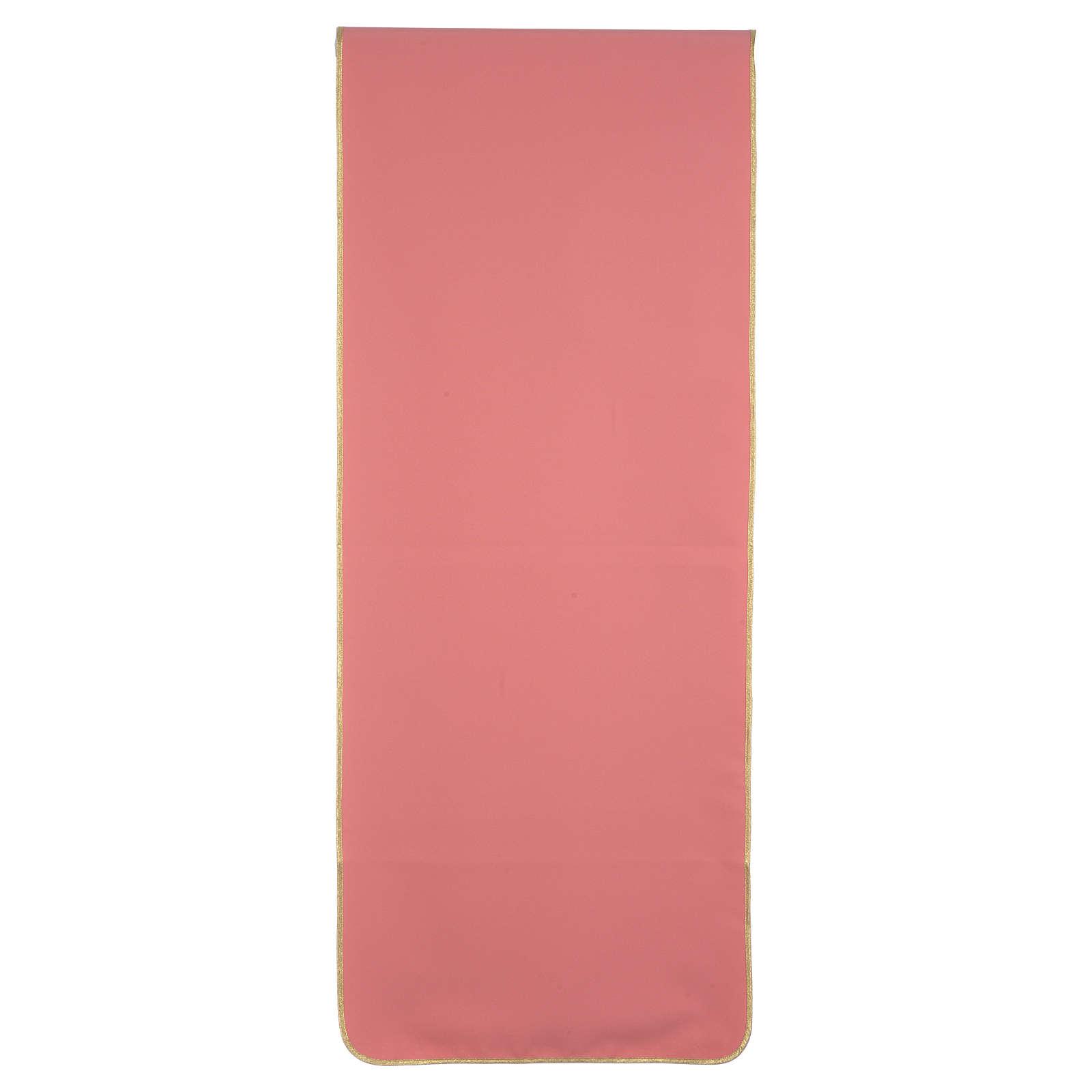 Coprileggio rosa 100% poliestere croce spighe 4
