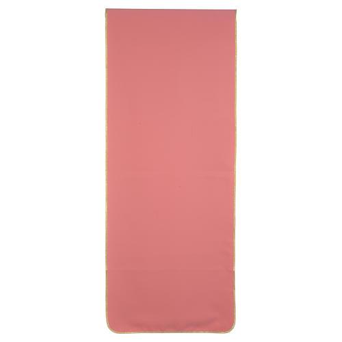 Coprileggio rosa 100% poliestere croce spighe 3