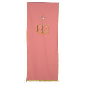 Paño de atril rosa 100% poliéster libro alfa y omega