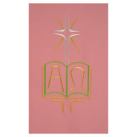 Paño de atril rosa 100% poliéster libro alfa y omega s2