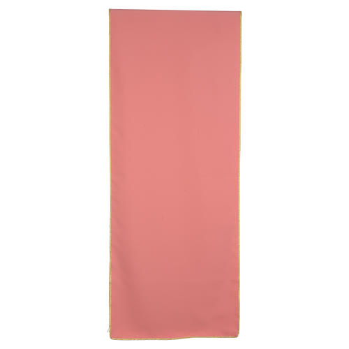 Paño de atril rosa 100% poliéster libro alfa y omega 3