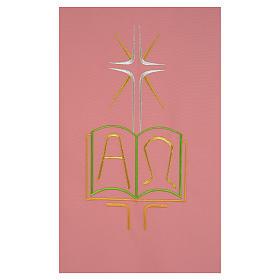 Coprileggio rosa 100% poliestere libro alfa e omega s2