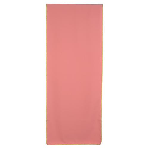 Paño de atril rosa 100% poliéster cruz estilizada y espiga entrelazada 3