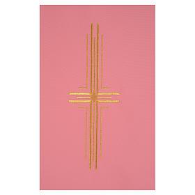 Paño de atril rosa 100% poliéster cruz estilizada