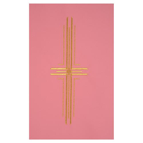 Paño de atril rosa 100% poliéster cruz estilizada 2