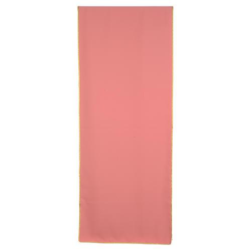 Paño de atril rosa 100% poliéster cruz estilizada 3