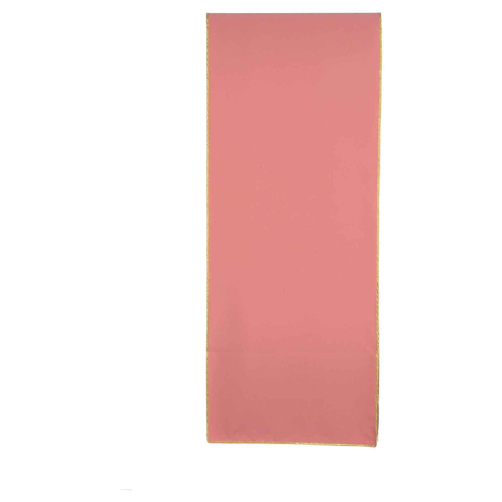 Coprileggio rosa 100% poliestere croce stilizzata IHS XP alfa omega 4