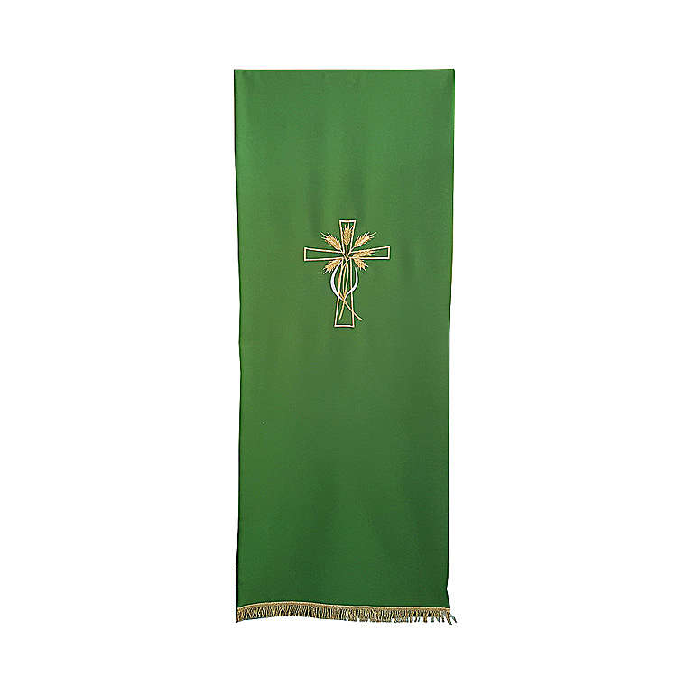 Lectern cover with cross and ears of wheat embroidery 4