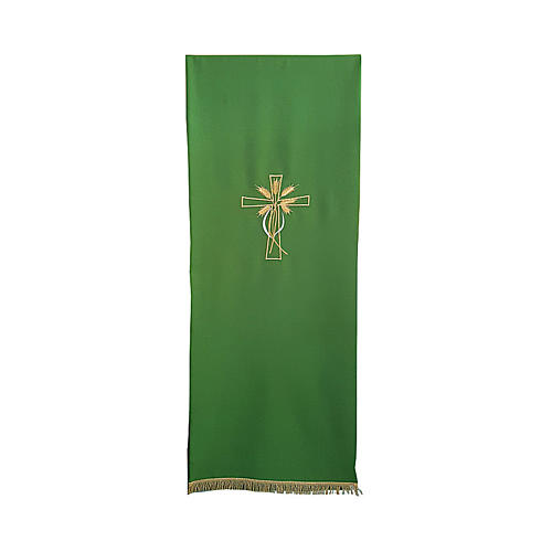 Lectern cover with cross and ears of wheat embroidery 1