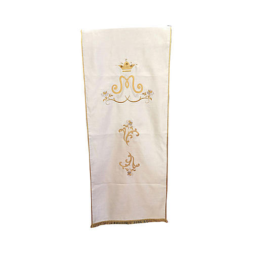 Marian lectern cover ivory cotton satin 1
