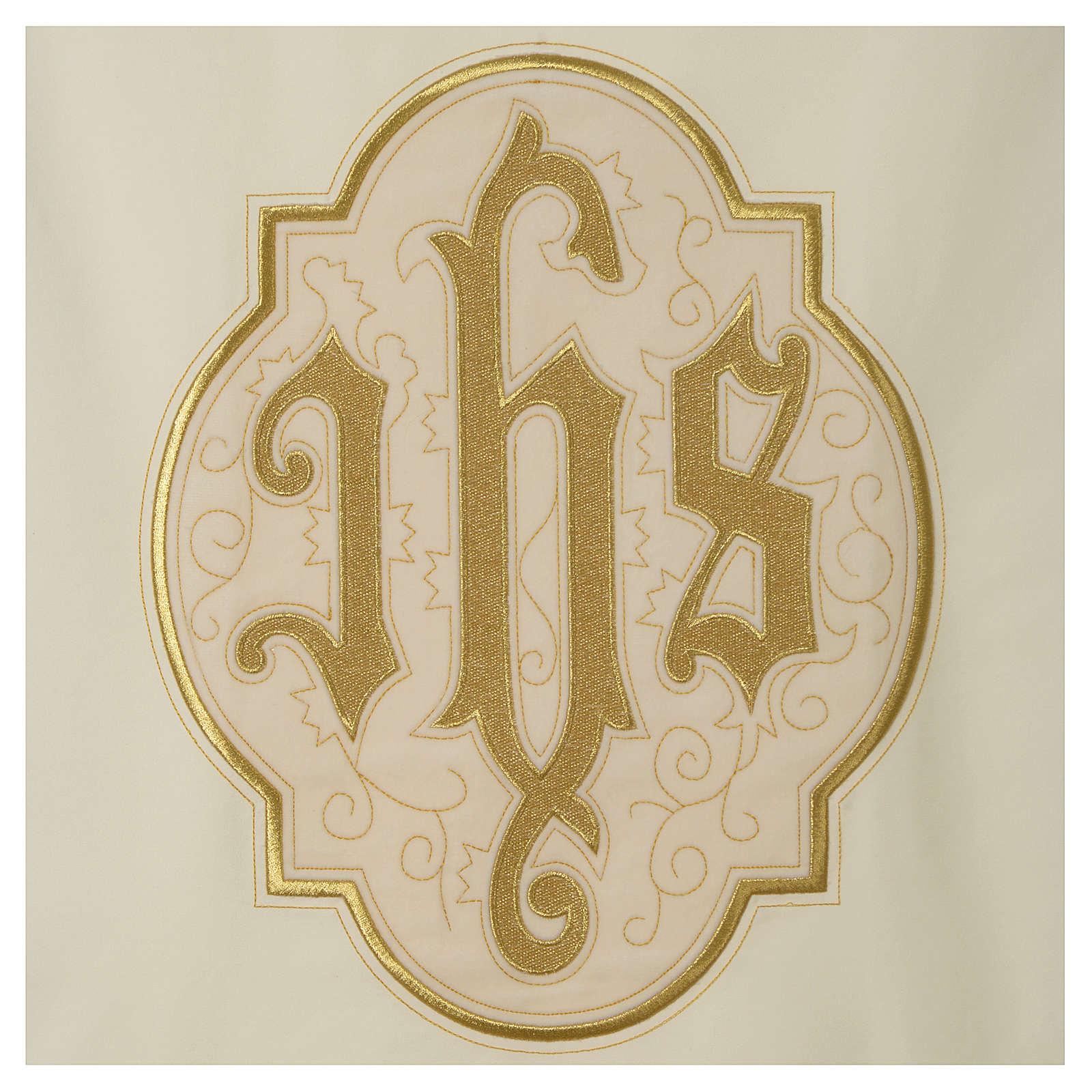 Lectern cover IHS on velvet, ivory 4