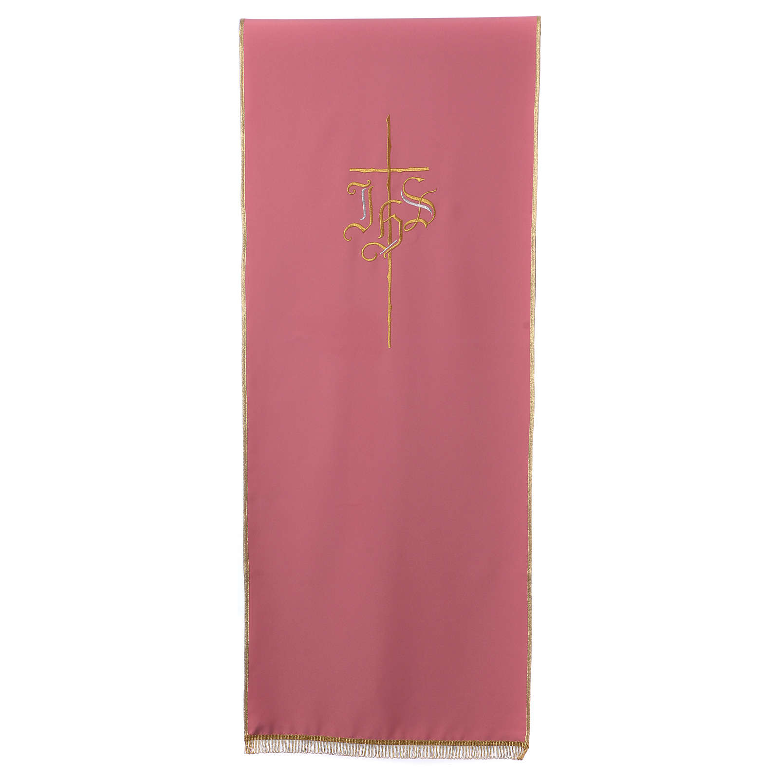 Rose bookstand cover with Cross and IHS symbol 4