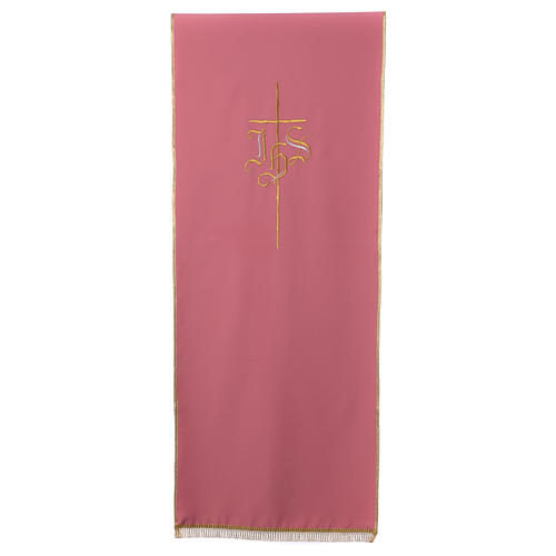 Rose bookstand cover with Cross and IHS symbol 1