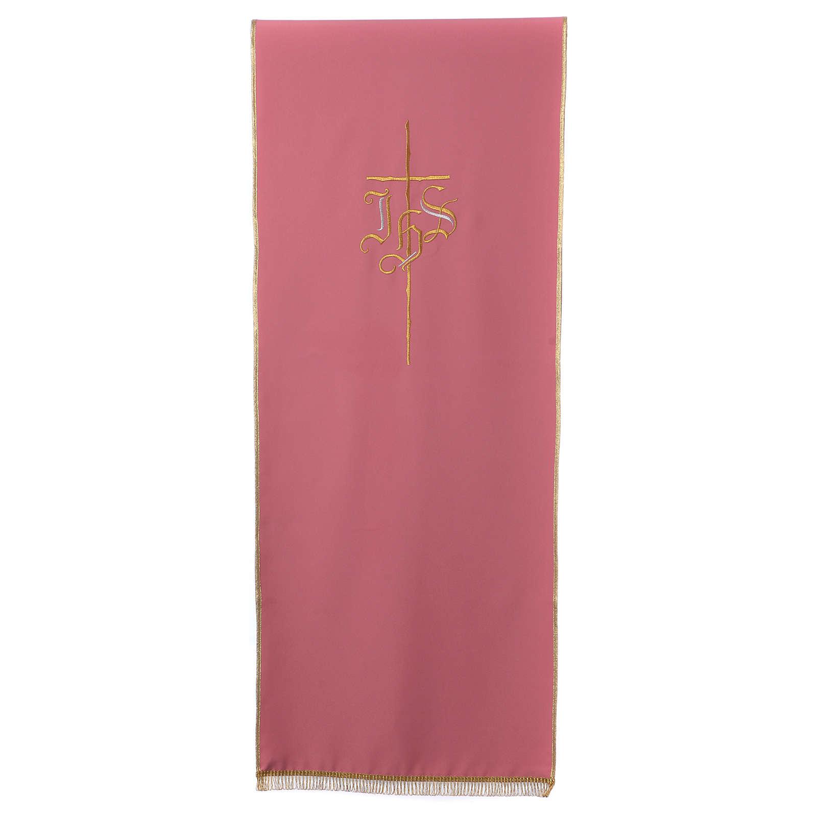 Voile de lutrin rose Croix et IHS 4