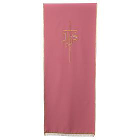 Voile de lutrin rose Croix et IHS s1
