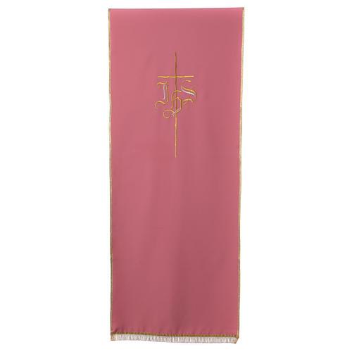 Voile de lutrin rose Croix et IHS 1