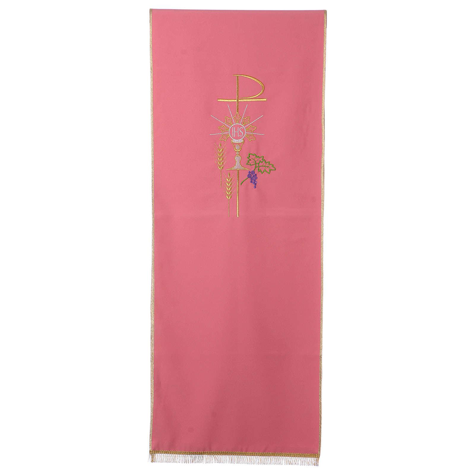 Coprileggio rosa 100% poliestere XP calice ostia spiga 4
