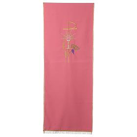 Coprileggio rosa 100% poliestere XP calice ostia spiga s1