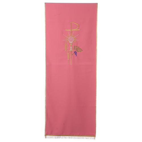 Coprileggio rosa 100% poliestere XP calice ostia spiga 1