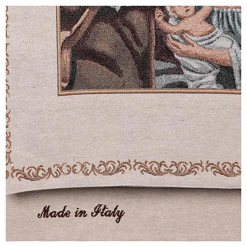 Paño de atril Natividad motivos hilo dorado algodón lurex marfil 3