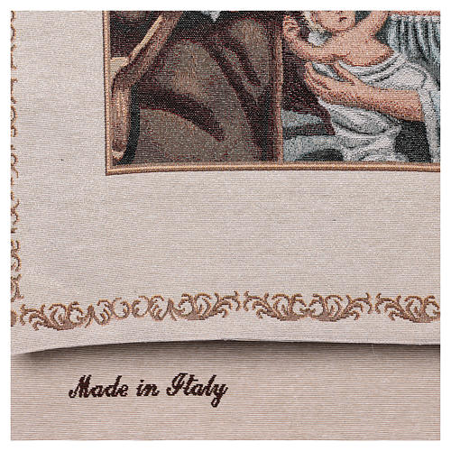 Voile de lutrin Nativité décorations fil doré coton lurex couleur ivoire 3