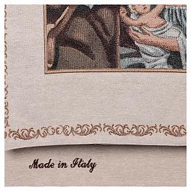 Coprileggio Natività decori filo dorato cotone lurex avorio s3