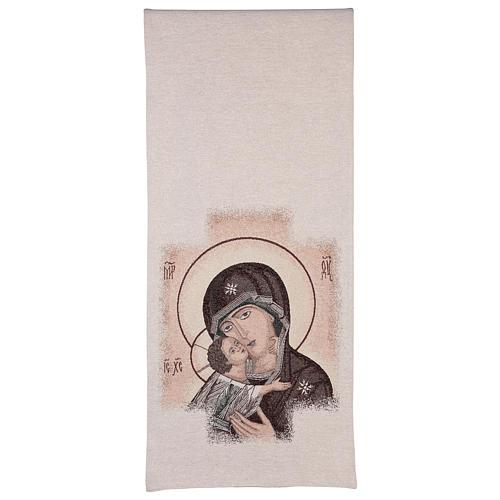 Coprileggio fondo avorio Madonna della Tenerezza 3
