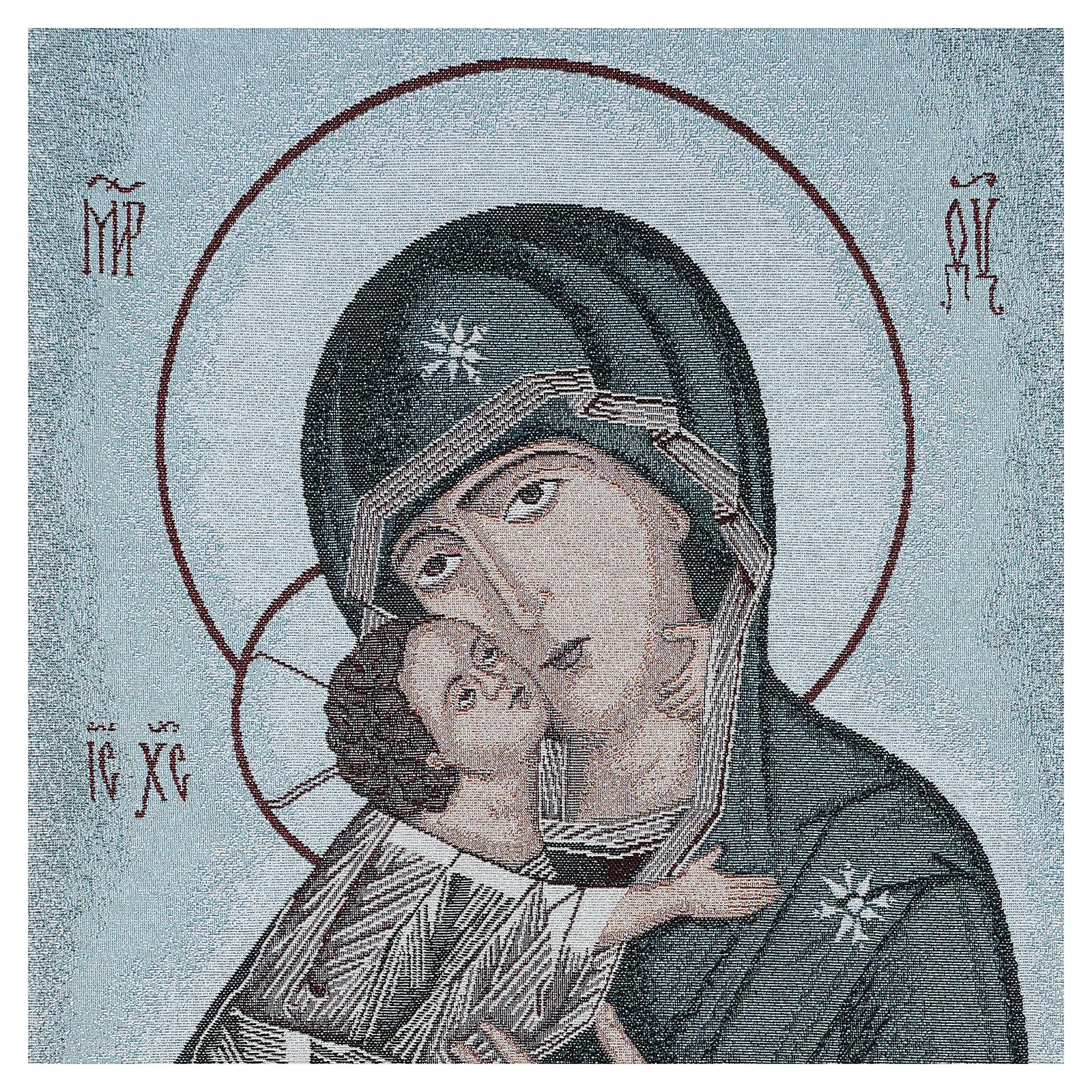 Coprileggio Madonna della Tenerezza sfondo azzurro 4