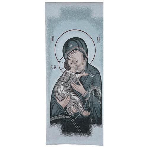 Coprileggio Madonna della Tenerezza sfondo azzurro 1