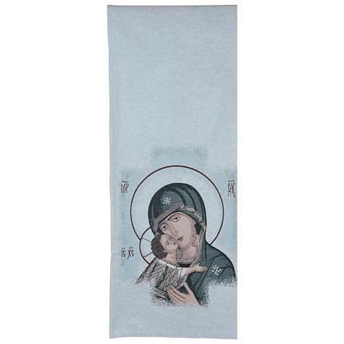 Coprileggio Madonna della Tenerezza sfondo azzurro 3