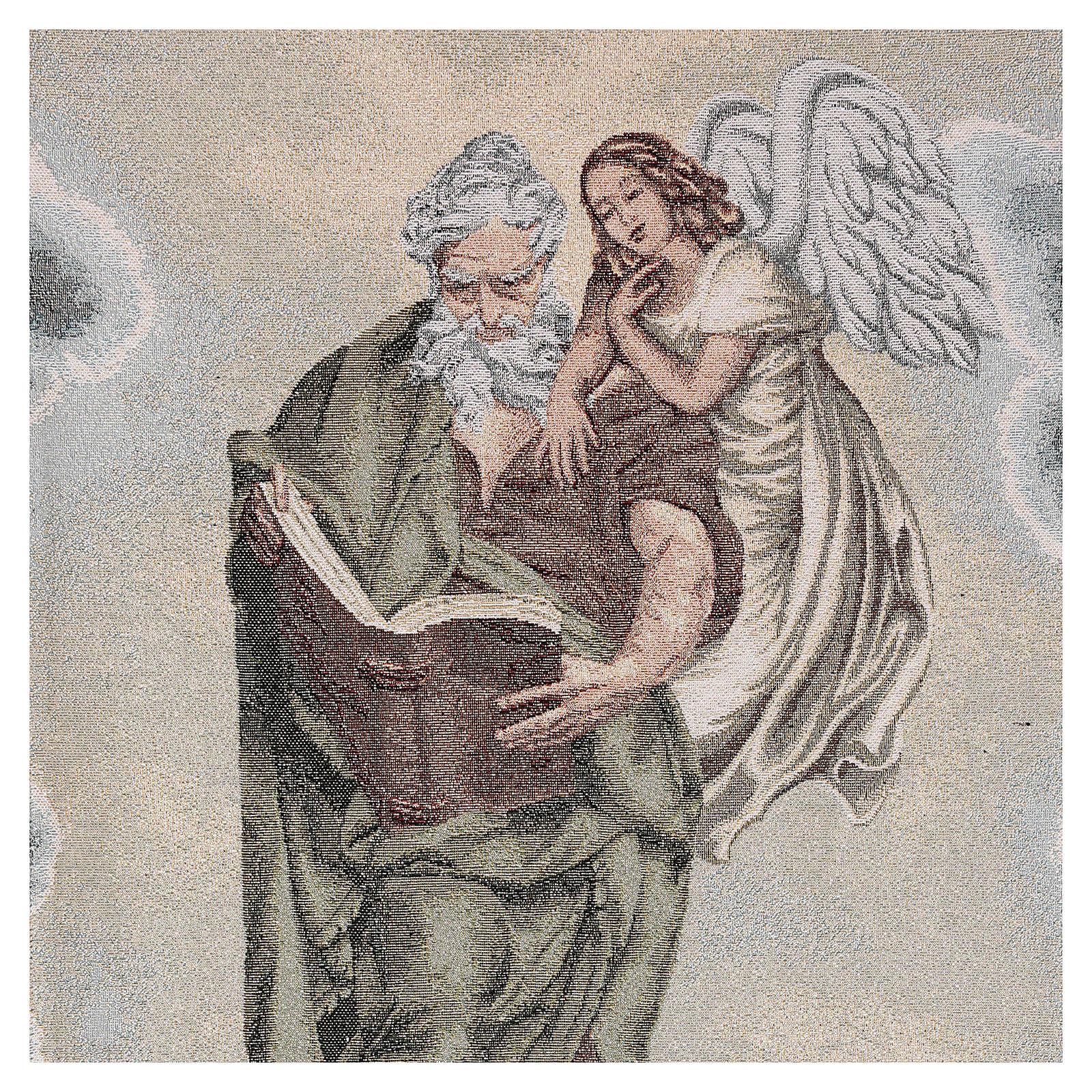 Paño de atril San Mateo Evangelista con ángel marfil 4
