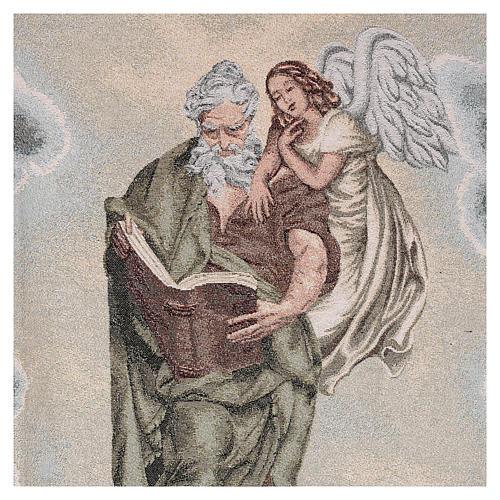 Voile de lutrin Saint Matthieu Évangéliste avec ange couleur ivoire 2