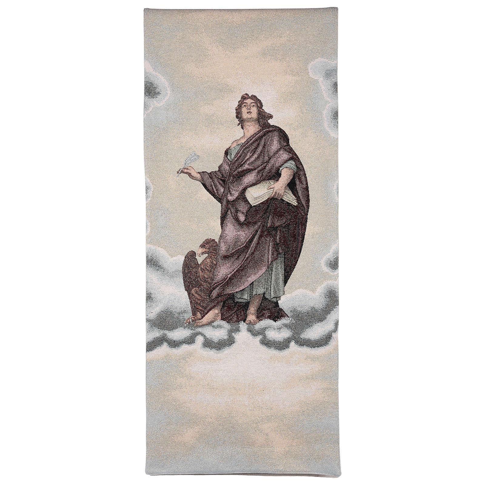 Paño de atril San Juan Evangelista marfil lurex 4