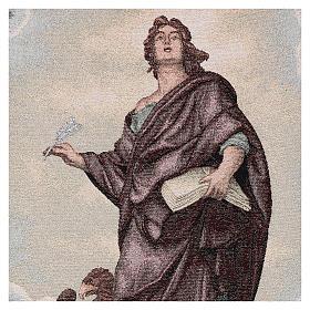 Voile de lutrin Saint Jean Évangéliste couleur ivoire lurex s2