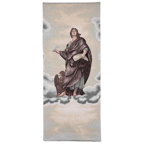 Voile de lutrin Saint Jean Évangéliste couleur ivoire lurex 1