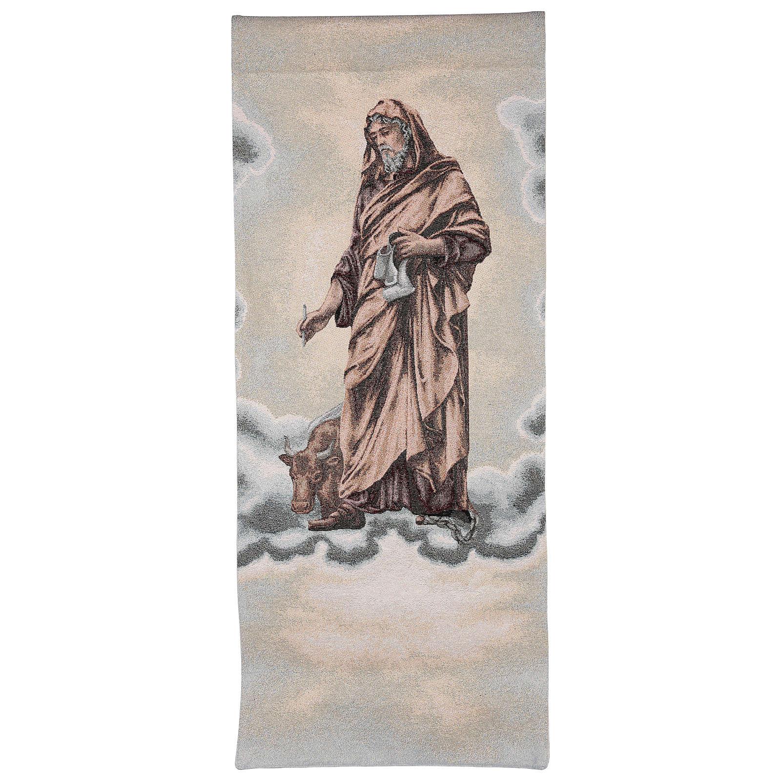 Coprileggio San Luca evangelista avorio cotone lurex 4