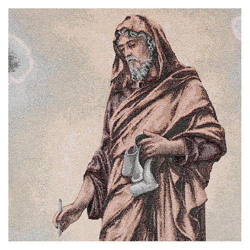 Coprileggio San Luca evangelista avorio cotone lurex 2